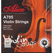 A705 Violin String Set, Plated Steel Plain String, Steel Core, Ni-Fe Winding