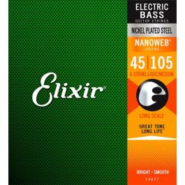 "ELIXIR 14077 ""Nanoweb"" Light/Medium Χορδές Ηλεκτρικού Μπάσου"