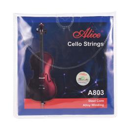 ALICEA803 Cello String Set, Steel Core, Alloy Winding Χορδες Τσελου
