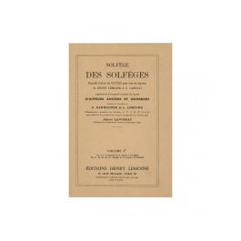 Solfege Des Solfeges, Vol.3B